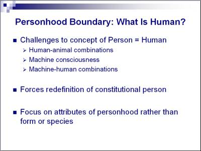 personhood human and person
